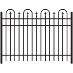 Jerith Legacy Concord #111 Aluminum Fence Section w/Finials (JX-CONCORD-111-S)