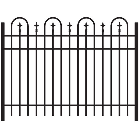 Jerith Legacy Concord #111 Aluminum Fence Section w/Finials