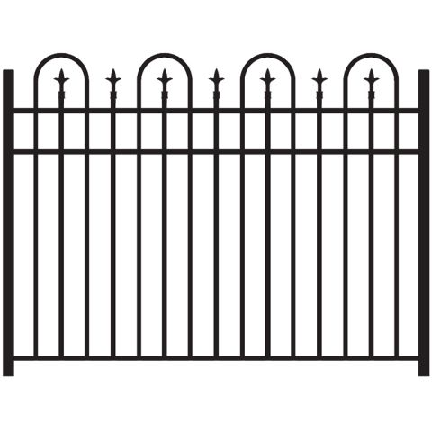 Jerith Legacy Concord #111 Modified Aluminum Fence Section w/Finials