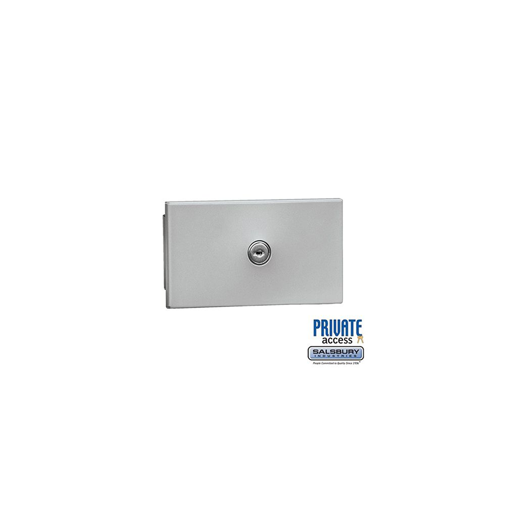 Salsbury Key Keeper, recessed mounted aluminum finish, private access with two keys