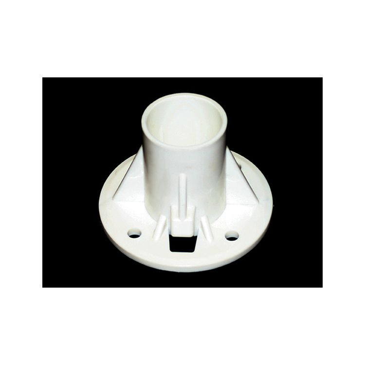 "King Canopy Metal Foot Pad for 2"" Pipe, White"