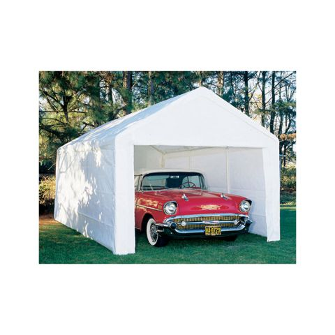 King Canopy 10' x 20' Hercules Canopy Enclosed 8 Leg - White - 189 lbs.