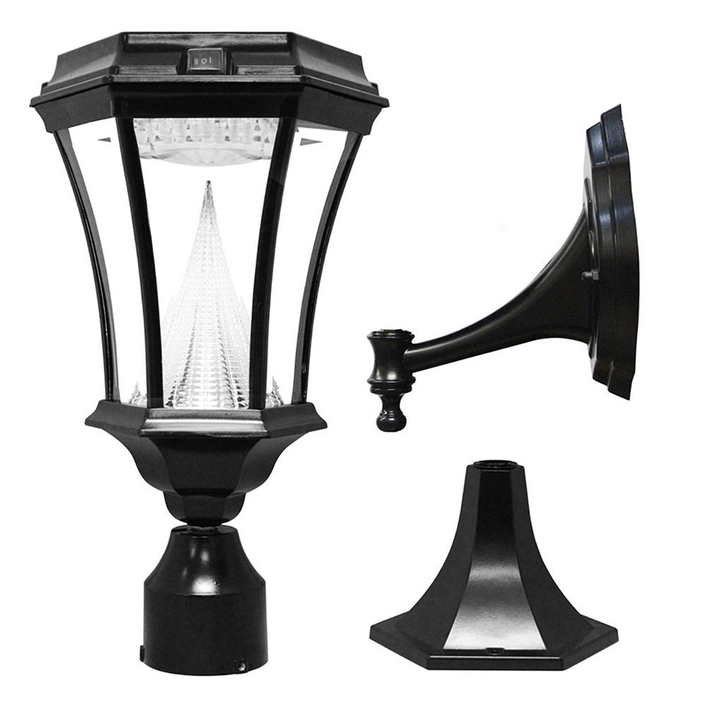 Gama Sonic Victorian Solar Light Wall Pier 3 Quot Fitter
