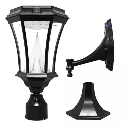 "Gama Sonic Victorian Solar Light - Wall/Pier/3"" Fitter Mount"
