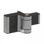 Locinox PUMA Compact 2-Way Adjustable Surface Mounted Hinge - Silver Finish