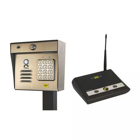 Maximum Controls AeroMax 200K-100 Wireless Intercom/Keypad with 100 Indoor Desktop Station