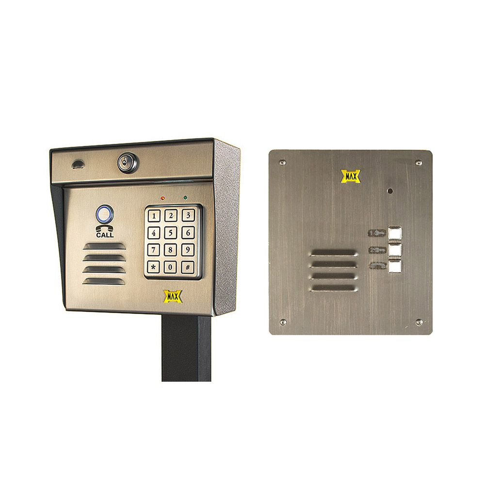 Maximum Controls AeroMax 200K-100F Wireless Intercom/Keypad with 100F Indoor Flush-Mount Station