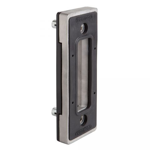 "Locinox Stainless Steel Keeper for Sliding Gate Lock - Fits minimum 2-1/2"" Flat"