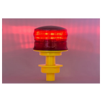 OTW Safety Flashing Solar Warning Light - 360 degrees - Red (CO1-FL-R)