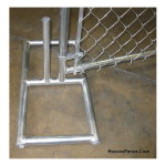Hoover Fence Panel Stand - Chain Link (S-TEMP)