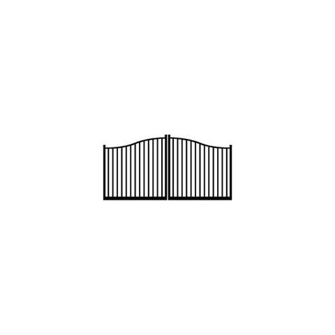 Ideal #8430 Aluminum Double Swing Estate Gate