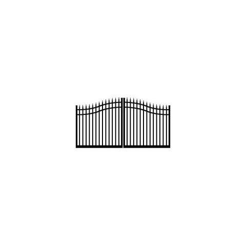 Ideal #8630 Double Swing Estate Gate