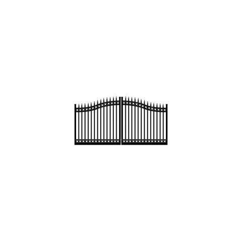 Ideal #8630 Double Swing Gate, with Finials and Top & Bottom Rings