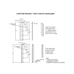 Jerith Estate Gate Brackets (JXE-GB)