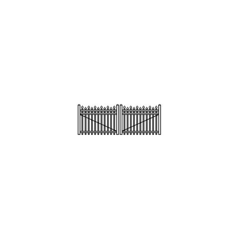 Jerith Industrial Aluminum Double Swing Gate Style #I100