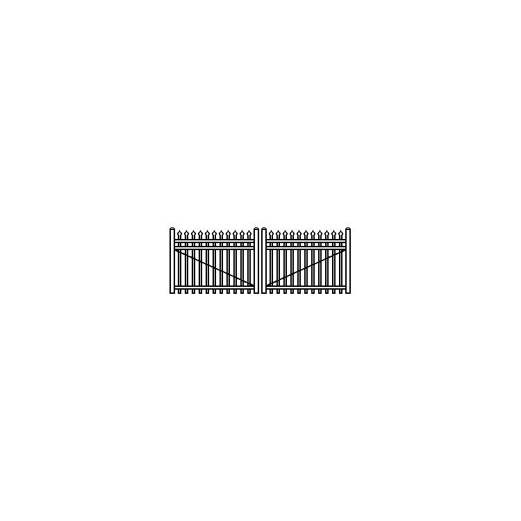 Jerith Industrial Aluminum Single Swing Gate Style #I101