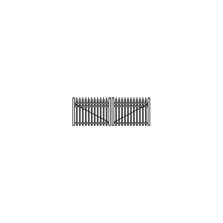 Jerith Industrial Double Swing Gate Style #I111 w/Finials