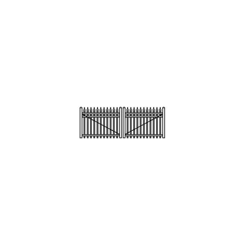 Jerith Industrial Aluminum Double Swing Gate Style #I111 w/Finials