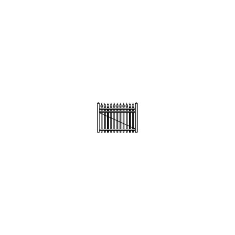 Jerith Industrial Aluminum Single Swing Gate Style #I111 w/Finials