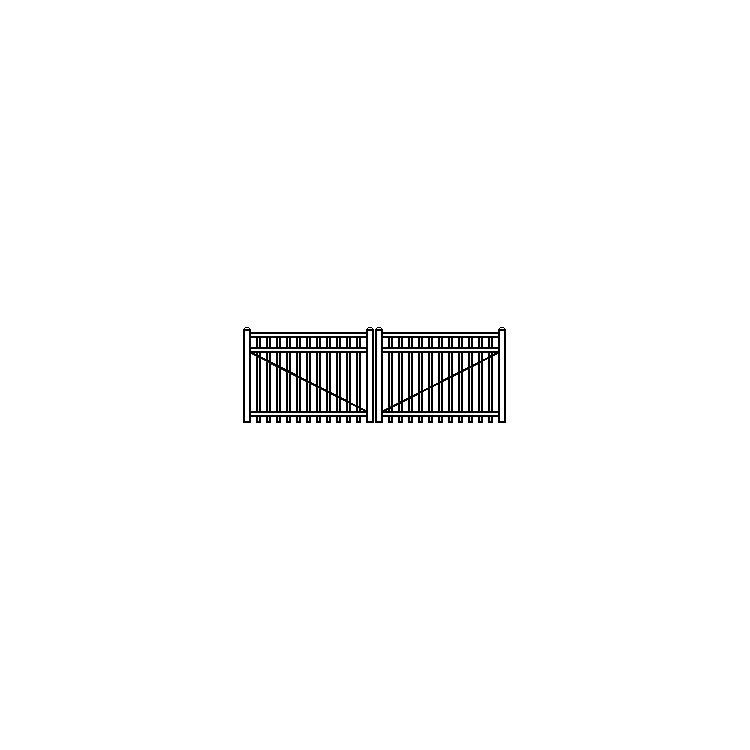 Jerith Industrial Aluminum Double Swing Gate Style #I202