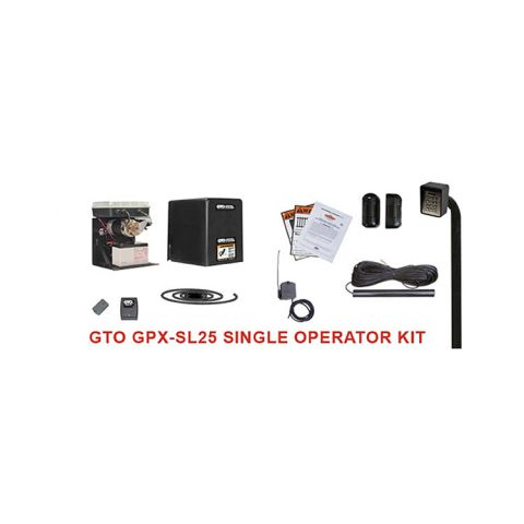 Linear GPX-SL25 Automatic Gate Opener Kit for Single Sliding Gates (650lb capacity)