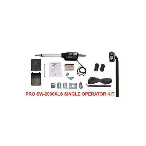 Linear PRO-SW2000XLS Automatic Gate Opener Kit for Single Swing Gates (500 lb capacity)