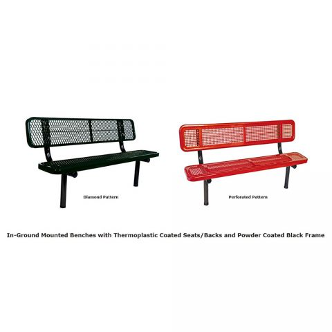 In-Ground Bench With Back