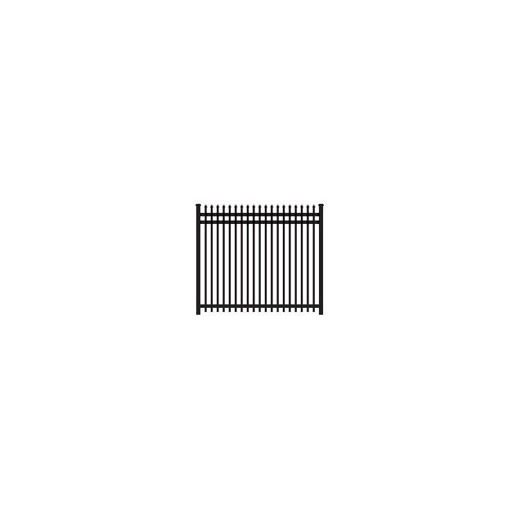 Ameristar Montage Plus Classic Steel Fence Section, 3-Rail