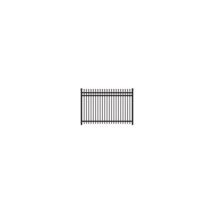 Ameristar Montage Classic Steel Fence Section, 3-Rail