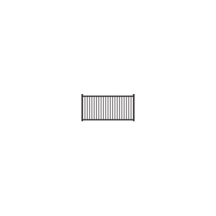 Ameristar Montage Majestic Fence Section, 2-Rail, Flush Bottom