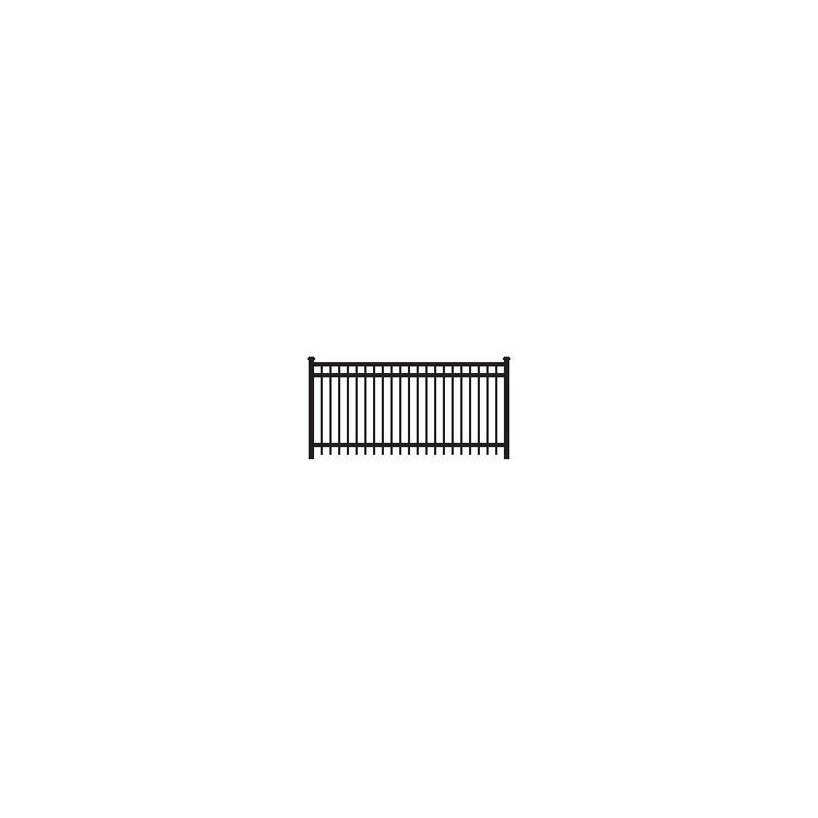 Ameristar Montage Majestic Fence Section, 3-Rail