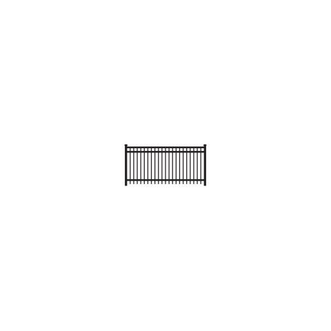 Ameristar Montage Majestic Steel Fence Section, 3-Rail
