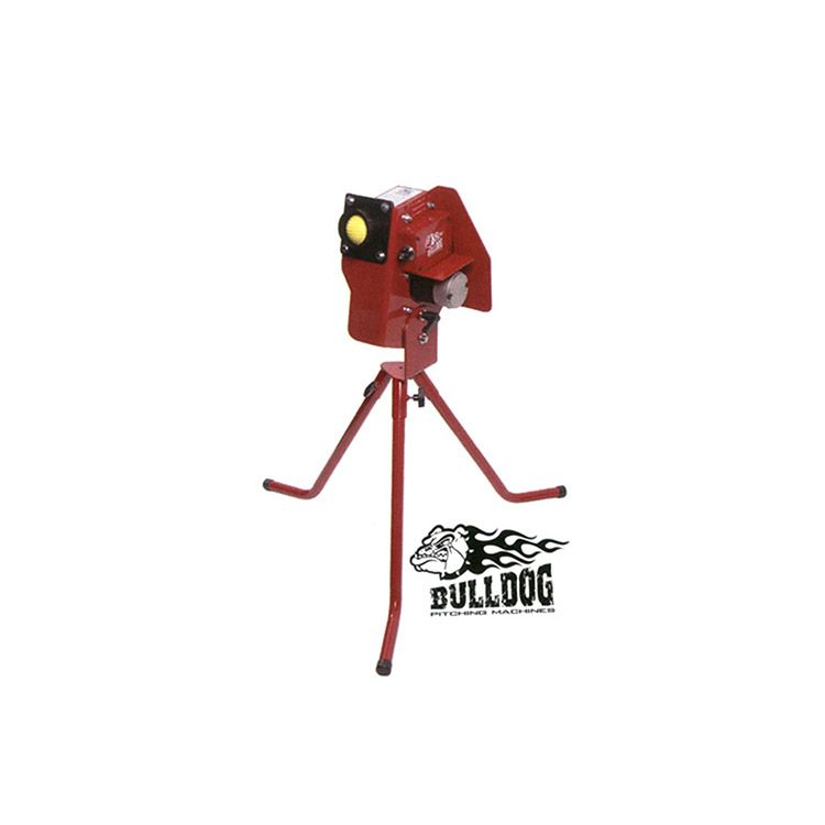 Bulldog Baseball/Softball Single Wheel Pitching Machine - 110 Volt Plug-In