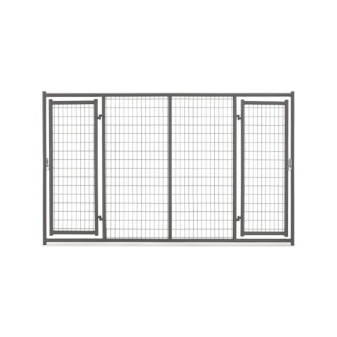 Tarter 6'H x 10'W Elite Kennel Panel w/ Two Gates - Gray