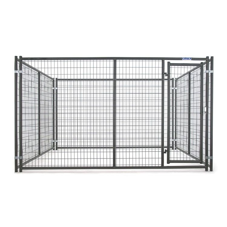Tarter 6'H x 10'W x 10'D Elite Kennel Enclosure w/ Single Gate - Gray