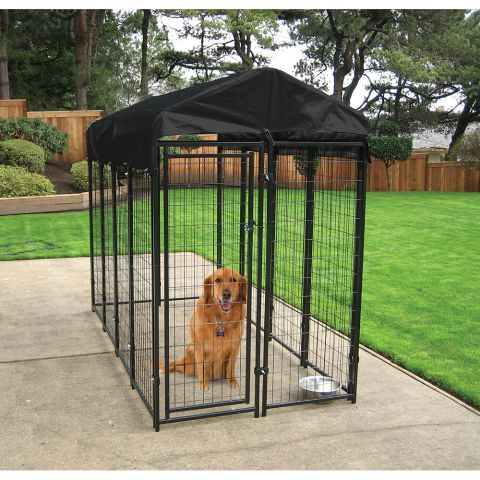 Jewett-Cameron Uptown Welded Wire Boxed Kennel Kits