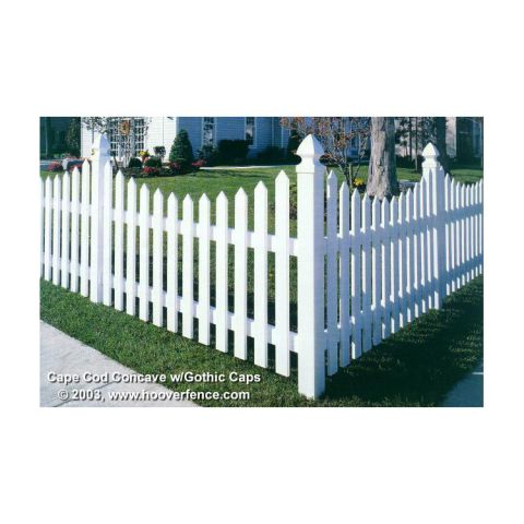 Bufftech Cape Cod Vinyl Fence Sections - Concave Top