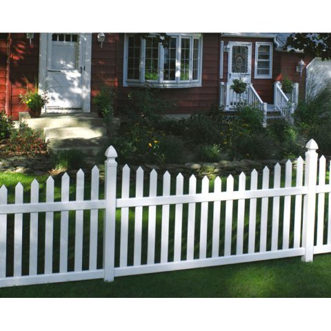 Bufftech Danbury Vinyl Fence Sections - Concave Top