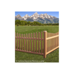 Bufftech Danbury Select Cedar Vinyl Fence Sections - Concave Top (DANBURY-WT-CT-S)