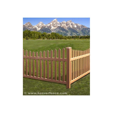 Bufftech Danbury Select Cedar Vinyl Fence Sections - Concave Top
