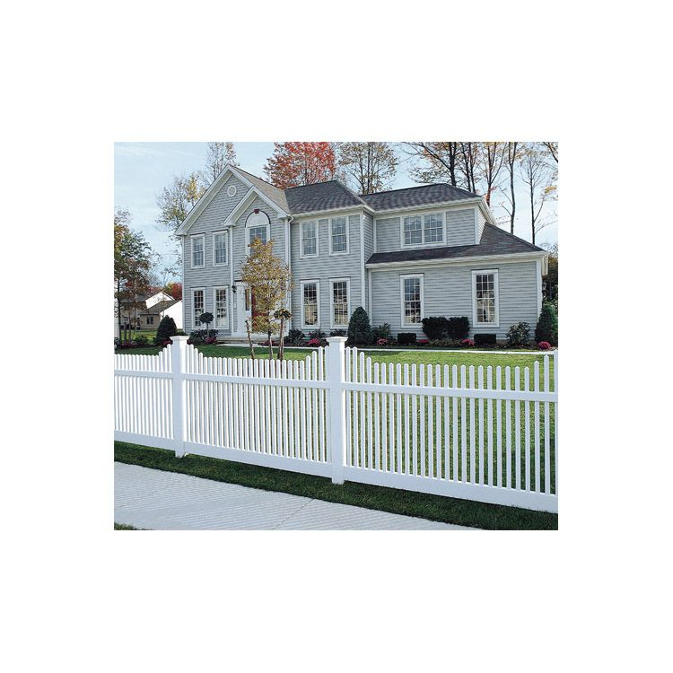 Bufftech Manchester Vinyl Fence Sections - Concave Top