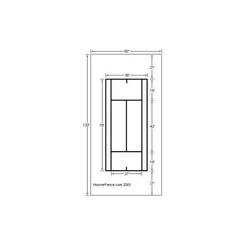Hoover Fence Single Tennis Court Chain Link Fencing Kit - Galvanized