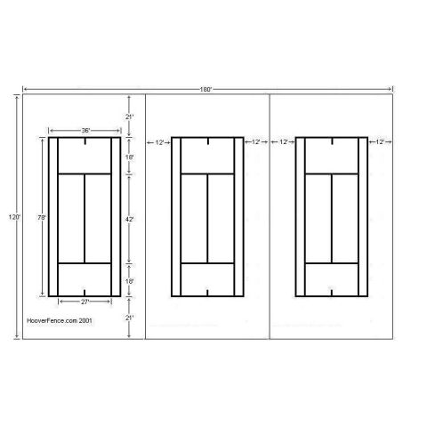 Hoover Fence Triple Tennis Court Chain Link Fencing Kit - Galvanized