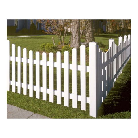 Bufftech Yorkshire Vinyl Fence Sections - Concave Top
