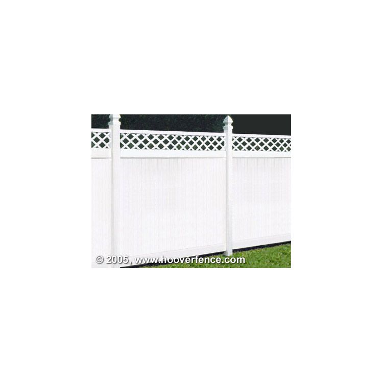 Bufftech New Lexington Vinyl Fence Sections - Lattice Accent