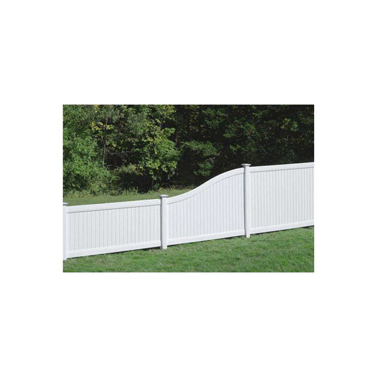 Bufftech New Lexington Vinyl Fence Sections - S-Curve Top Rail