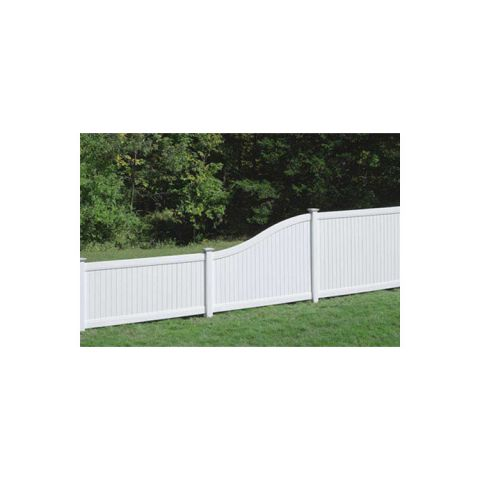 Bufftech New Lexington Vinyl Fence Panels - S-Curve Top Rail
