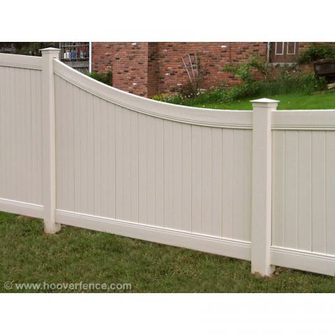 Bufftech New Lexington Vinyl Fence Panels - Swoop Top Rail