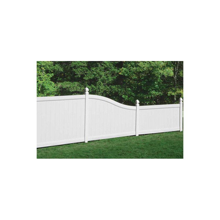 Bufftech Chesterfield Vinyl Fence Sections S Curve Top