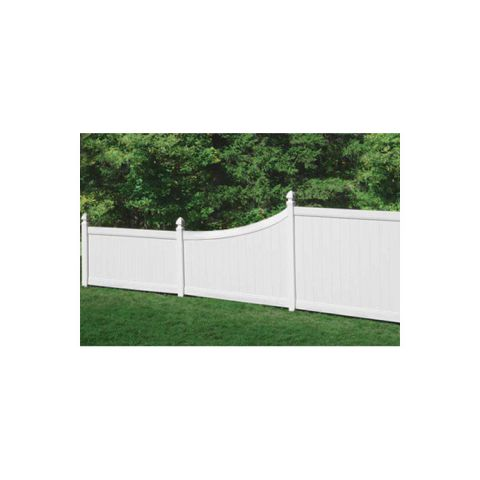 Bufftech Chesterfield Vinyl Fence Sections - Swoop Top Rail